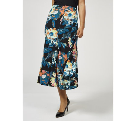 Floral Print Skirt by Michele Hope