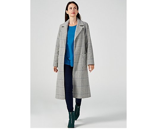 Helene Berman Check Edge To Edge Jacket