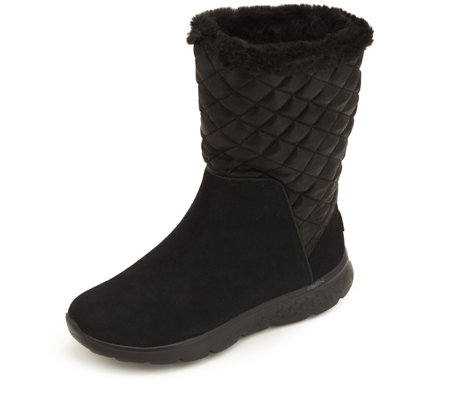 Skechers On the GO Snuggly Suede Mid Top Boot with Faux Fur