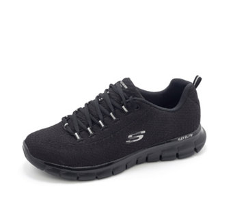 Skechers Synergy Safe and Sound Soft Knit Lace Up Trainer w/ Memory Foam - 163870