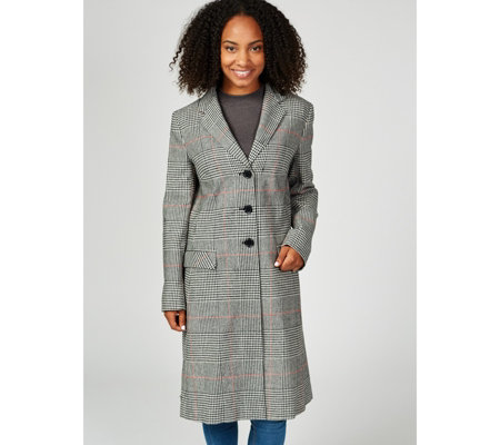 Outlet Helene Berman England Check College Coat