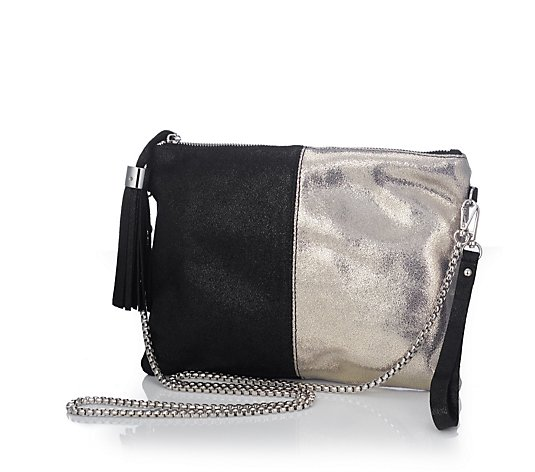 Frank Usher Two Tone Metallic Leather Bag