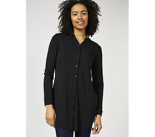 Crepe Jersey Shirt with Cuffs by Michele Hope