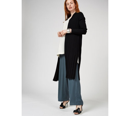 MarlaWynne Pleated Knit Duster