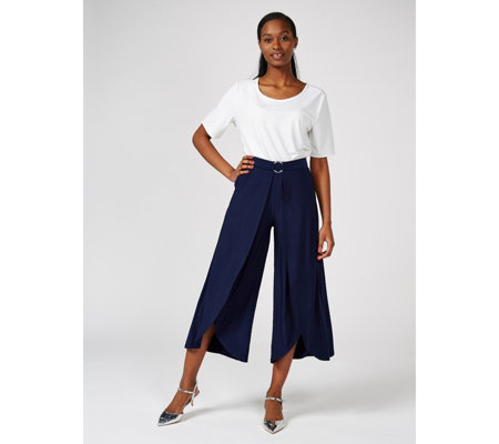 Antthony Designs Cropped Trousers with Tulip Hem