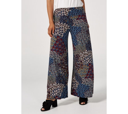 Coco Bianco Printed Palazzo Trousers Regular