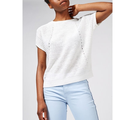 b2a094d2102 Phase Eight Tillie Tape Yarn Knit Top - QVC UK