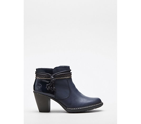 Rieker Ankle Boot with Tassel Trim