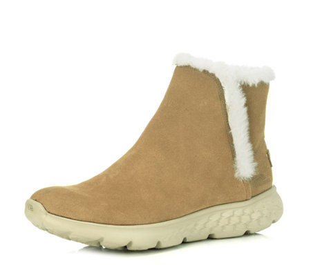 Skechers On the GO 400 Blaze Suede Ankle Boot with Faux Fur Lining
