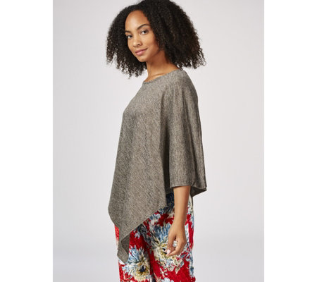 Kim & Co Shimmer Sweater Jersey Poncho