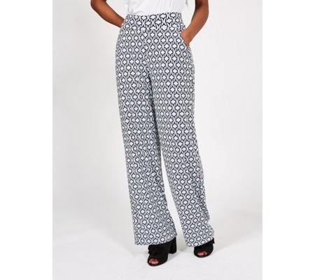 Kim & Co Chain Links Brazil Jersey Relaxed Trouser with Pockets