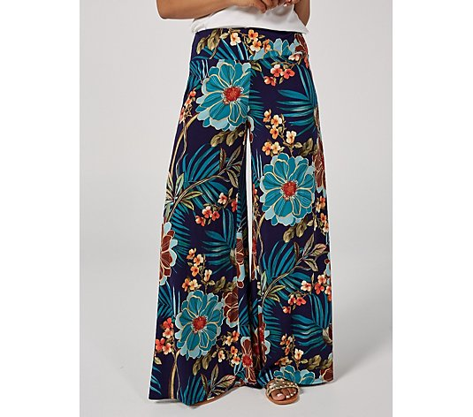 Coco Bianco Printed Palazzo Trousers Short