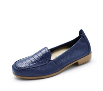 Vitaform Leather Mock Croc Loafer - 164672