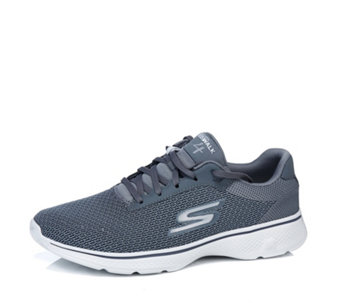 Skechers Men's GOwalk 4 Two Tone Seamless Air Mesh Lace Up Trainer - 166272