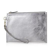 Amanda Lamb Leather Small Clutch with Detachable Wristlet - 168272