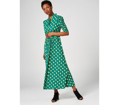 bee1616923 Jolie Moi Chloe Tie collar Maxi Dress - QVC UK