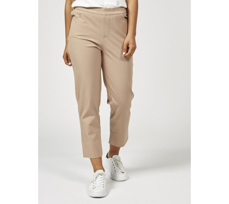 Outlet Isaac Mizrahi Live 24/7 Stretch Cropped Petite Trousers