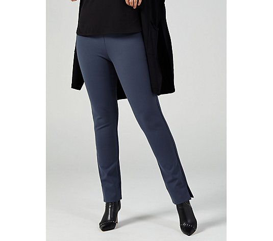 MarlaWynne Premium Flatter Fit Trousers with Side Slit Petite