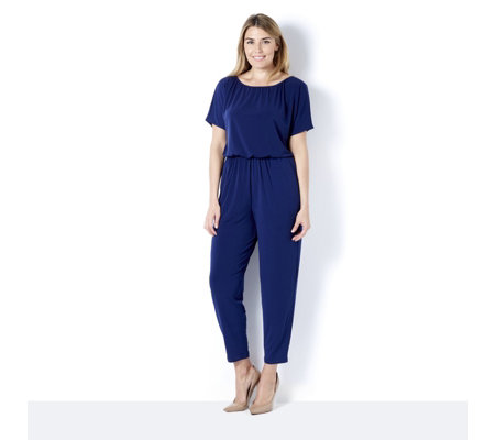 Kim & Co Brazil Knit Dolman Sleeve Jumpsuit Regular