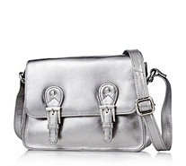 Amanda Lamb Small Leather Satchel Bag with Cross-body Strap - 168273