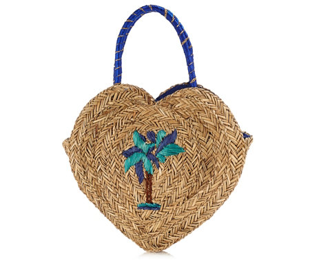 Pia Rossini Zizi Heart Basket Tote