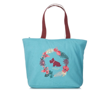 Radley Botanical Floral Wreath Canvas Tote