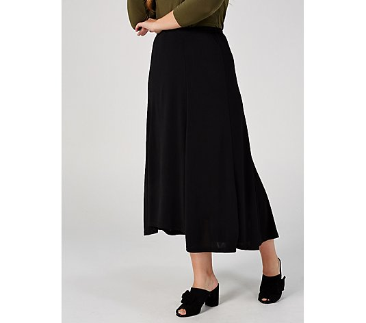Crepe Jersey Hi-Lo Hem Maxi Skirt by Michele Hope