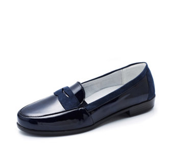 Vitaform Stretch Patent Leather & Velvet Goat Loafer - 164674