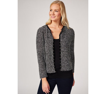 Together Boucle Cardigan with Studs