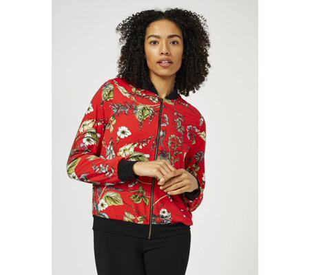 Kim & Co Brazil Jersey Bomber Jacket with Pockets
