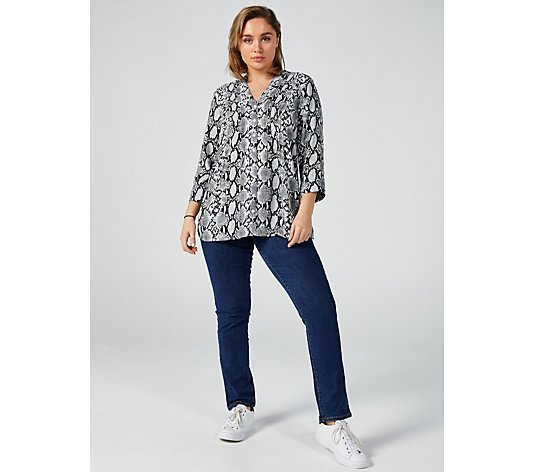 Outlet Together Snake Print Button Through Blouse