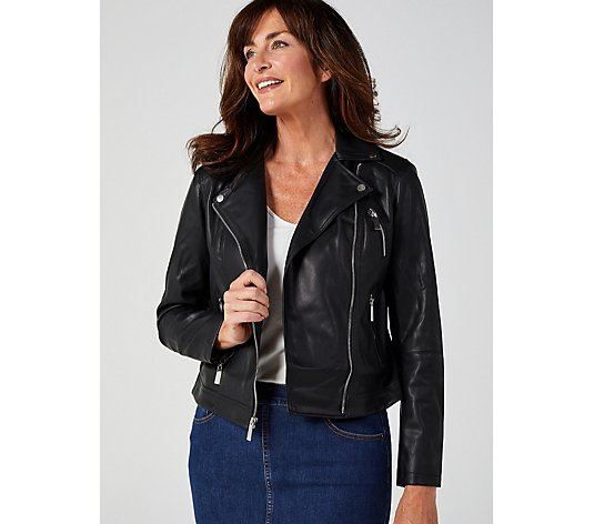 Ruth Langsford Faux Leather Biker Jacket
