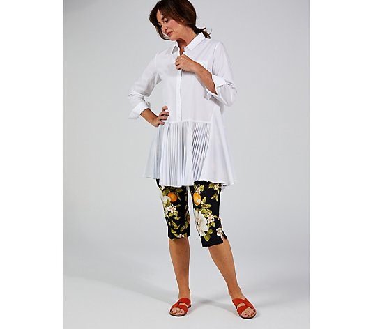 Isaac Mizrahi Live 24/7 Stretch Printed Pedal Pusher Trousers