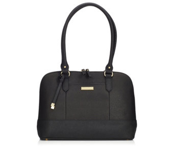 Tignanello Bowery Saffiano Leather Dome Satchel with RFID Protection - 158475