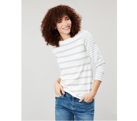 Joules Striped Harbour Top  with Long Sleeve