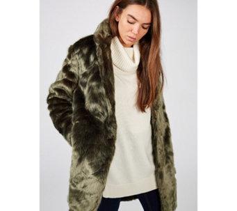 Rino   Pelle Faux Fur Collar Rever Coat - 174575 7a520bc33e7