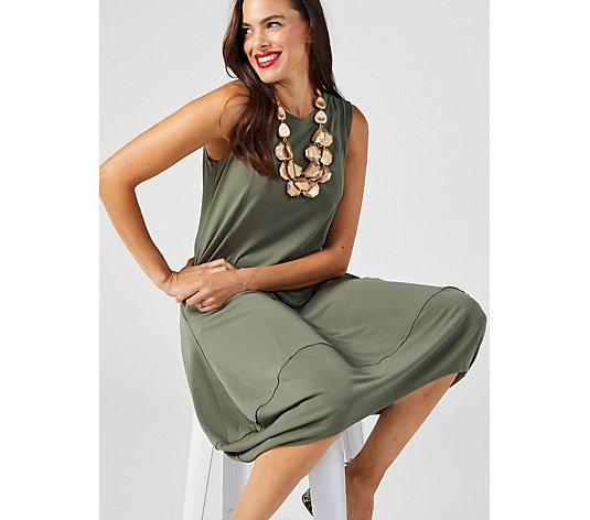 MarlaWynne Luxe Crepe Pocket Detail Sleeveless Dress