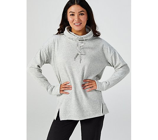 Cuddl Duds Plush Knit Cowl Neck Top