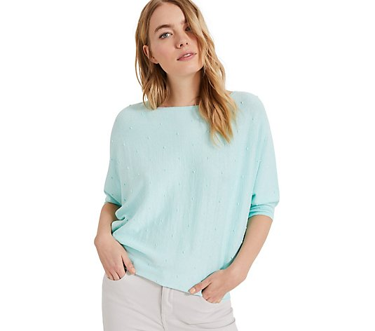 Phase Eight Becca Spot Stitch Top