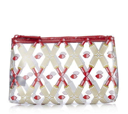Lulu Guinness Lip Lattice Cosmetic Pouch