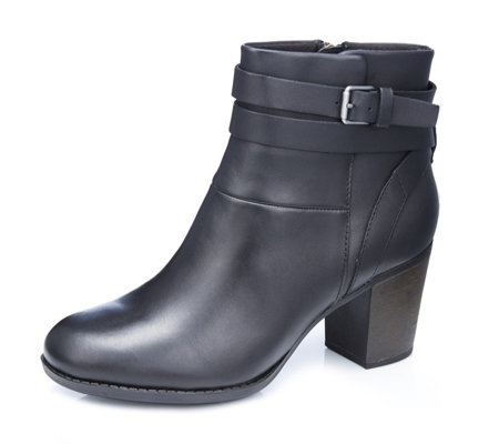 Clarks Enfield River Ankle Boot with Buckle Detail Wide Fit