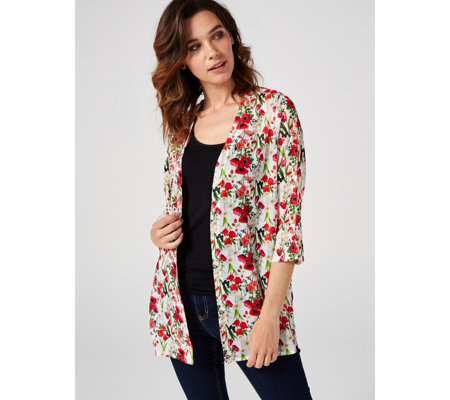 Printed Cardigan by Michele Hope