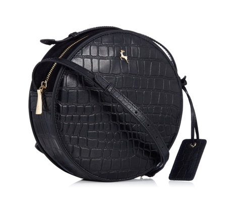 Ashwood Leather Croc Janice Circle Crossbody Bag