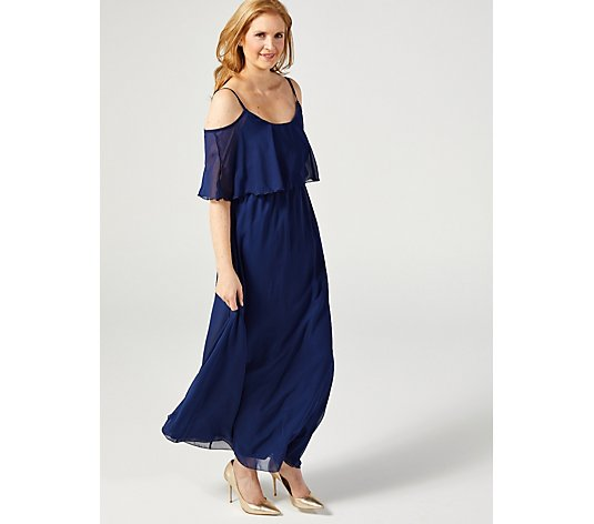 Little Mistress Cold Shoulder Maxi Dress