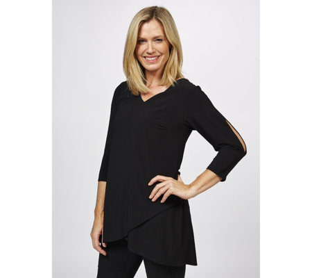 Grace Tulip Hem Tunic with Open Sleeve Detail