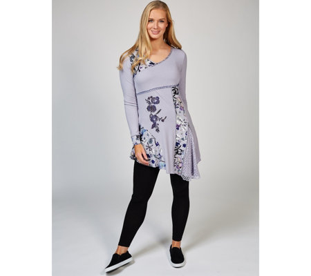 Joe Browns Utterly Unique Print & Lace Insert Tunic