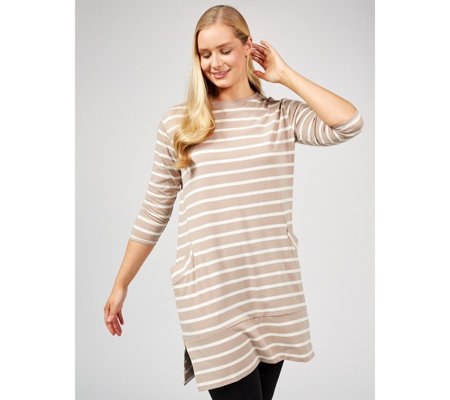 ccee040155407 MarlaWynne Tunic with Front Pockets - QVC UK