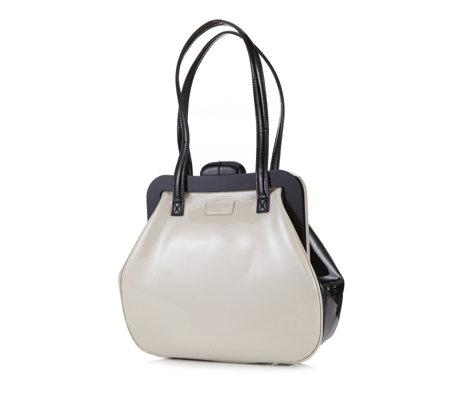 Lulu Guinness Patent Leather Colour Block Mid Pollyanna Bag - QVC ... 81ac2c90921d7