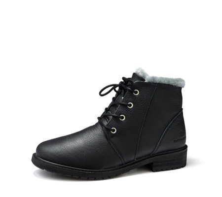 Emu Explorer Waterproof Kan Leather & Sheepskin Lace Up Boot
