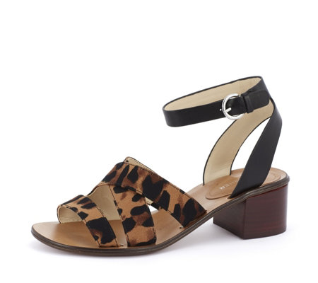 Marc Fisher Omela Leather Block Heel Sandal